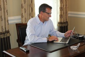 Smart Adaptive Clothing Mens Blue Oxford shirt - Who Benefits
