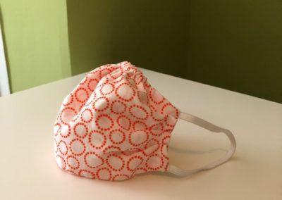 Smart Adaptive Clothing Mask white with orange circles