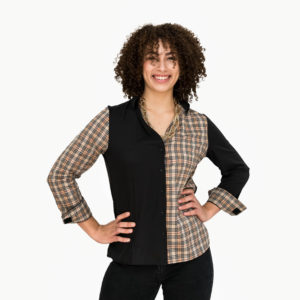 Women's Black Long Sleeve Adaptive Blouse - Smart Adaptive Clothing